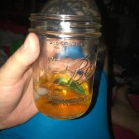 I am finishing a long Saturday off with a Ball mason jar with an ice ball and #SouthernComfort to pair with the similar setup @azxure has with #blackbush. It's mostly gone by now tho.