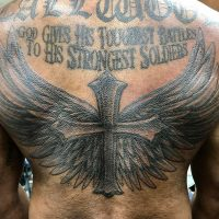 Shaded this cross and wings today #blackandgreytattoo #cross #wings #religious