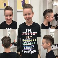 My youngest got a rockin' new haircut tonight! We may be getting to point of picking pronouns everyday! 😁We talked about making her a 'shi' instead.