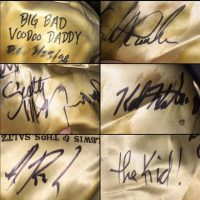 This show is a #tbt for me. I was the house DJ for #bigbadvoodoodaddy show at the @930club in DC in 1998. This was where they autographed the lining of my fedora after the show that night. They were so gracious and they are still kicking ass almost 20 years later. @bigbadvoodoodaddyofficial #swing #neoswing #jumpswing #autographs #godaddyo